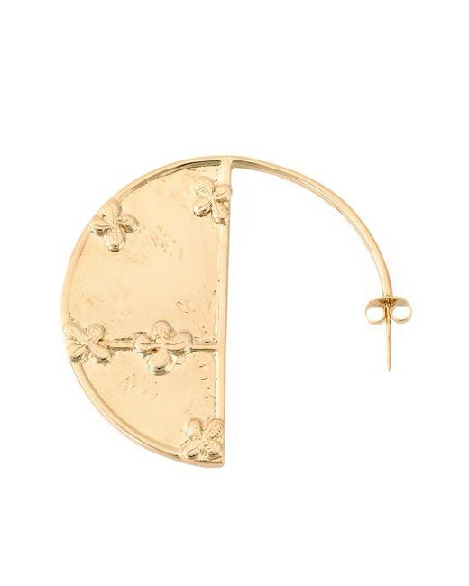 Aurelie Bidermann | Metallic 'bianca' Reversible Mirror Hoop Earrings | Lyst