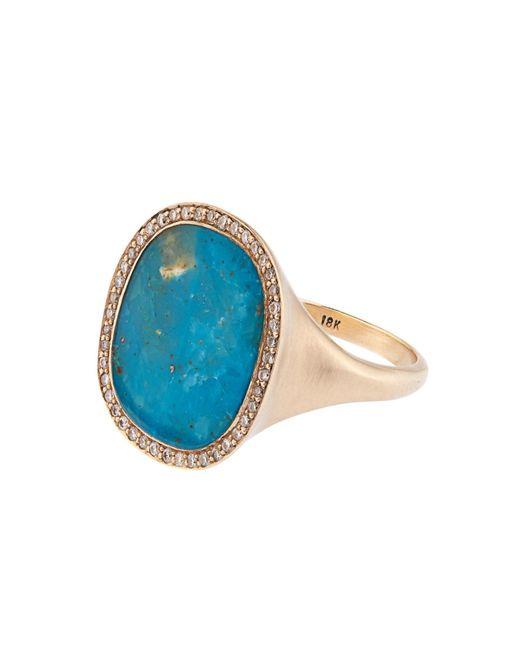 Monique Péan | Blue Diamond, Opalina & White-Gold Ring | Lyst