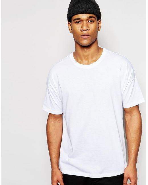 asos oversized t shirt in white for men lyst. Black Bedroom Furniture Sets. Home Design Ideas