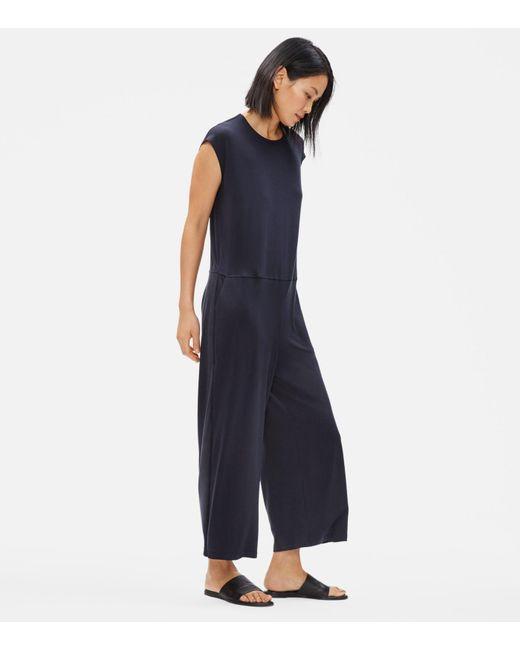 Eileen Fisher Multicolor Jersey Wide-leg Jumpsuit