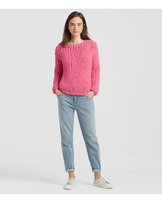 0b7850362da543 Eileen Fisher - Pink Handknit Peruvian Alpaca Box-top - Lyst ...