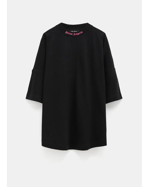 Palm Angels Black Logo T-shirt for men