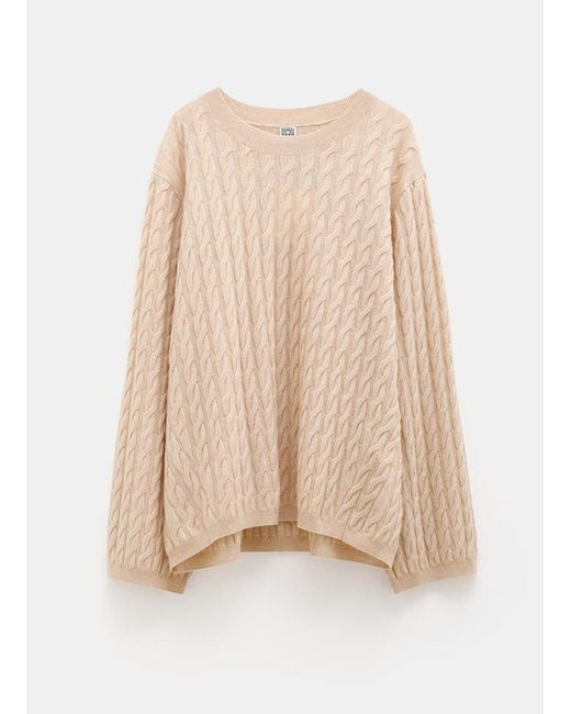 Totême  Natural Cable Knit Sweater