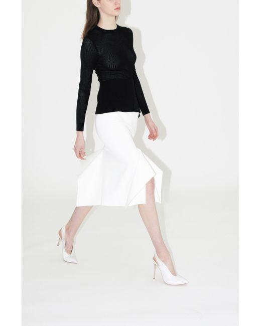 ee38ec638b ... Roland Mouret - White Lucca Midi Skirt - Lyst
