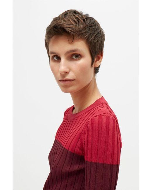 Altuzarra   Red Leila Knitted Sweater   Lyst