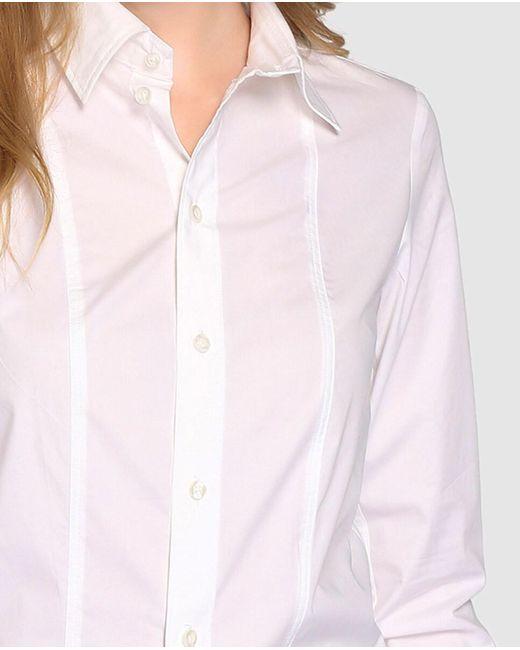 Camisa De Mujer De Popelín En Color Blanco G-Star RAW de color White