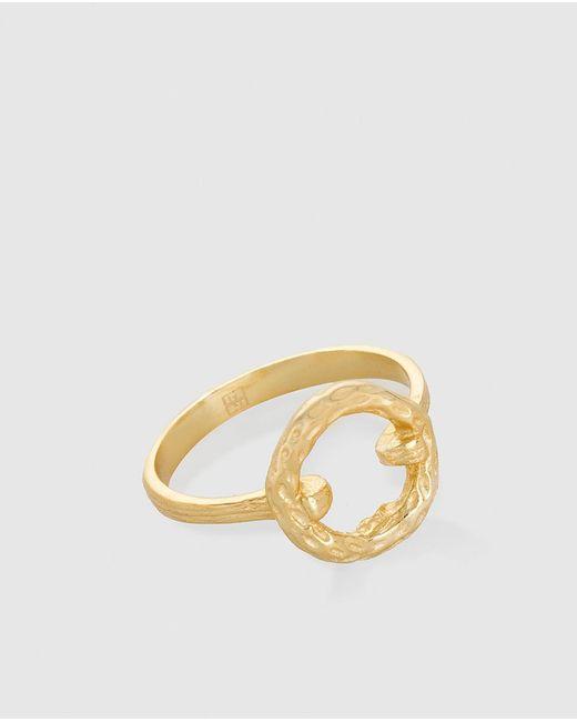 Gloria Ortiz - Metallic Golden Bow Ring - Lyst