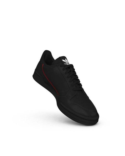 big sale b2cc6 83774 ... Adidas Originals - Continental 80 Trainers Black G27707 for Men - Lyst