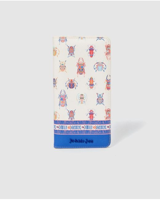 Jo & Mr. Joe White Printed Travel Wallet With Fastener