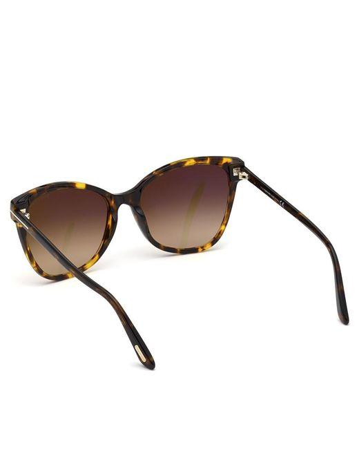 Gafas De Sol De Mujer Cat Eye De Acetato En Havana Tom Ford de color Brown