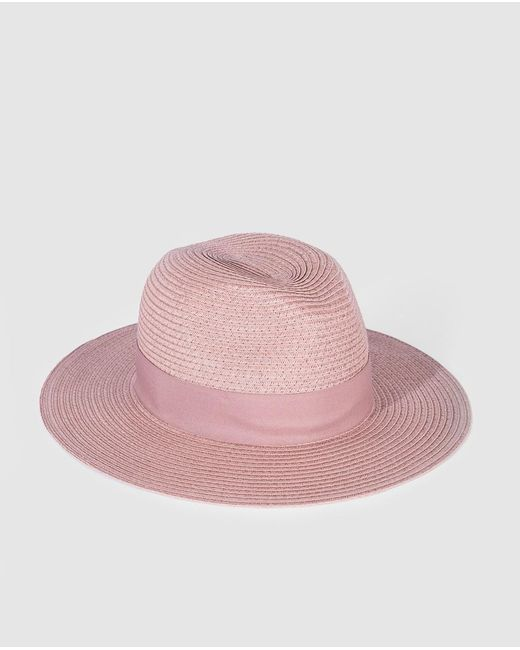 Sombrero Fedora De Mujer De Papel En Rosa Gloria Ortiz de color Pink