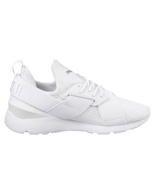 a81a8d5e4439 PUMA - White Muse Ep Casual Trainers for Men - Lyst ...