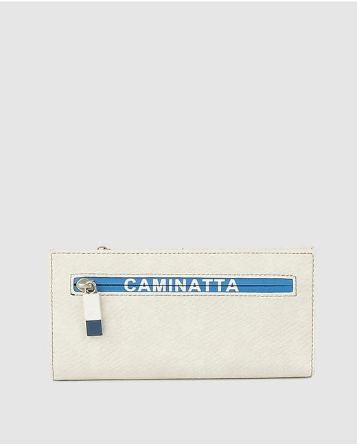Caminatta Natural Large Cream Wallet With Fastener