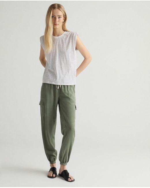 Pantalón De Mujer Fluido Con Bolsillos Laterales GREEN COAST de color Multicolor