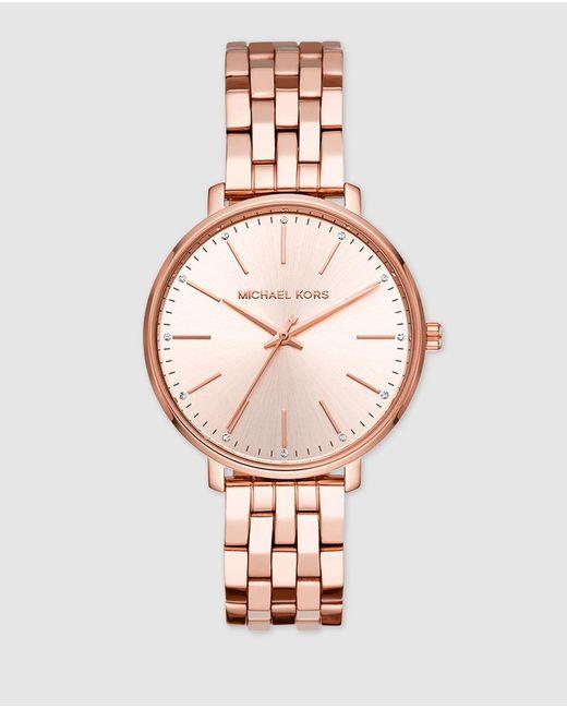 Michael Kors Mk3897 Pink Steel Watch