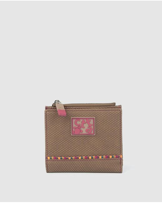 Caminatta Mini Brown Wallet With Fastener