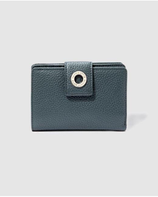 Gloria Ortiz Gray Epona Small Grey Leather Wallet With Fastener