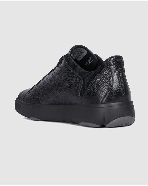 Geox Black Leather Trainers. Nebula Model. for Men Lyst