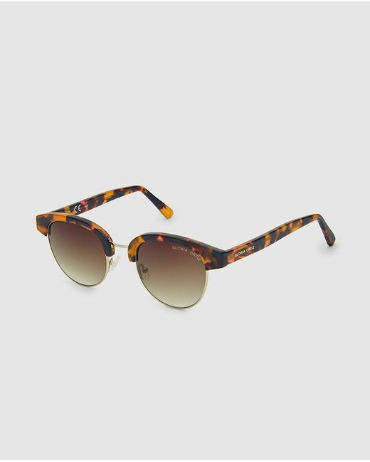 Gloria Ortiz Natalie Sunglasses With Havana Acetate Open Frames in ...