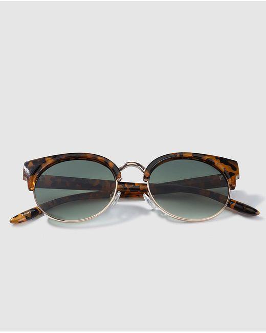 Jo & Mr. Joe - Brown Wo Sunglasses With Havana Open Frames - Lyst