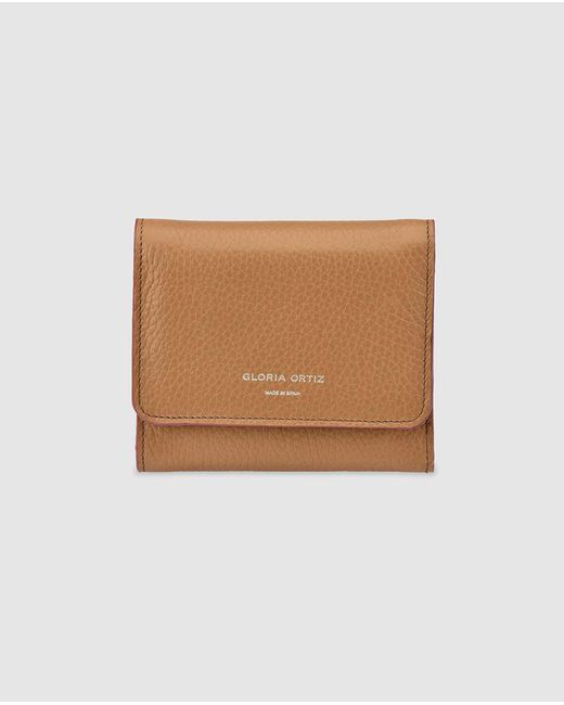 Gloria Ortiz Natural Adele Small Camel-coloured Leather Wallet With Fastener