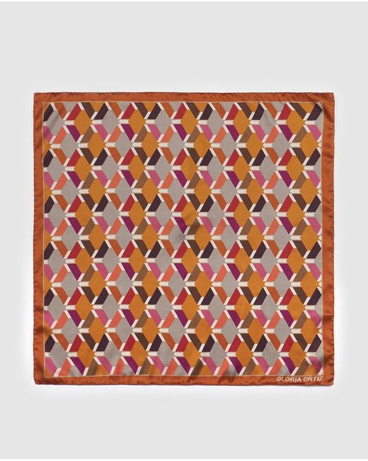 Gloria Ortiz - The Bookseller Orange Printed Silk Handkerchief - Lyst