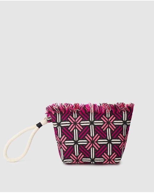 El Corte Inglés Pink Jacquard Pencil Case With Zip