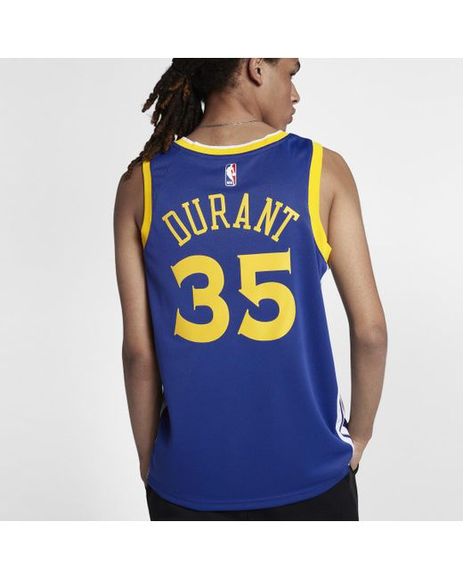 timeless design d4b5b 11cfa Blue Kevin Durant Icon Edition Swingman Jersey (golden State Warriors)  Men's Nba Connected Jersey