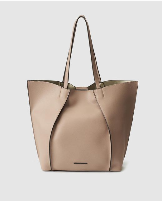 Jo & Mr. Joe - Natural The Shins Beige Tote With Front Pleats - Lyst