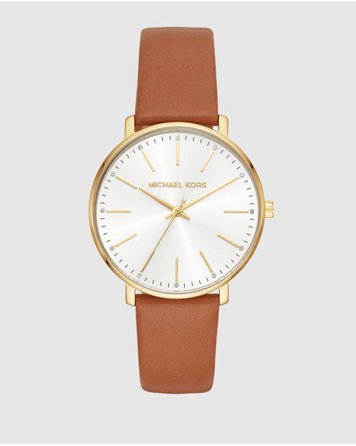 Michael Kors Pyper Mk2740 Brown Leather Watch