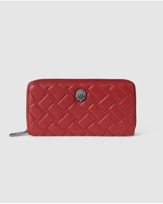 Kurt Geiger Red Leather Wallet With Fastener