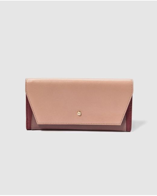 El Corte Inglés Multicolor Large Colour Block Leather Wallet With Flap And Fastener