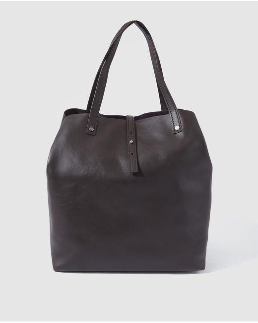 Gloria Ortiz - Sofia Dark Brown Leather Shopper Bag - Lyst