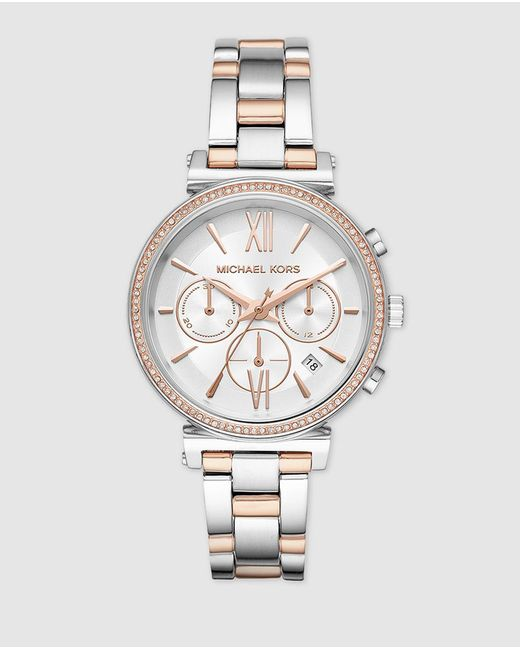 Michael Kors Metallic Mk6558 Two-tone Steel Watch