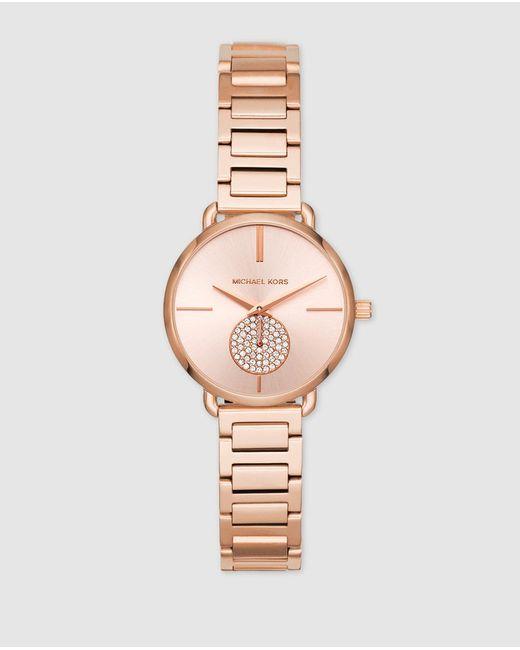 Michael Kors Mk3839 Pink Steel Watch