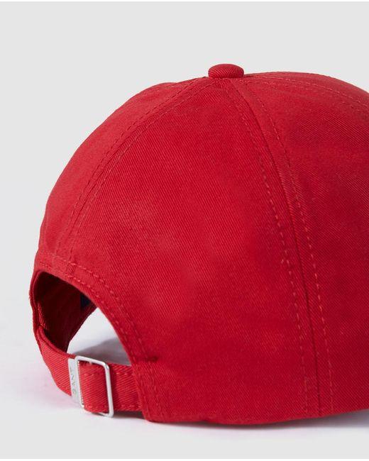 f6797829 GANT Red Baseball Cap in Red for Men - Lyst