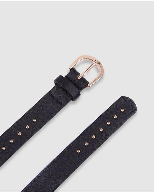 Cinturón Clásico De Mujer En Negro Con Tachas El Corte Inglés de color Black
