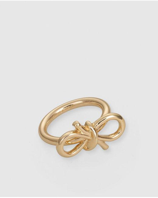 Gloria Ortiz | Metallic Golden Ring With Bow | Lyst