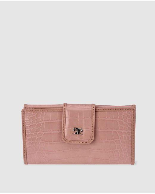 Cartera Grande De Mujer En Rosa Con Grabado Coco Pierre Cardin de color Pink