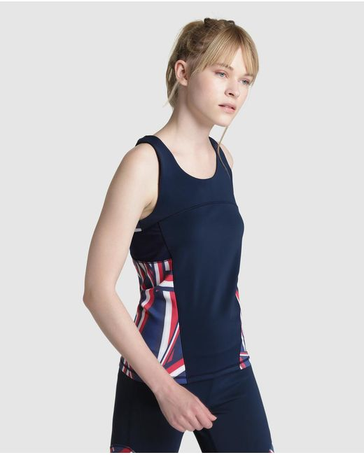 Tommy Hilfiger | Blue Sleeveless Athletic Top | Lyst