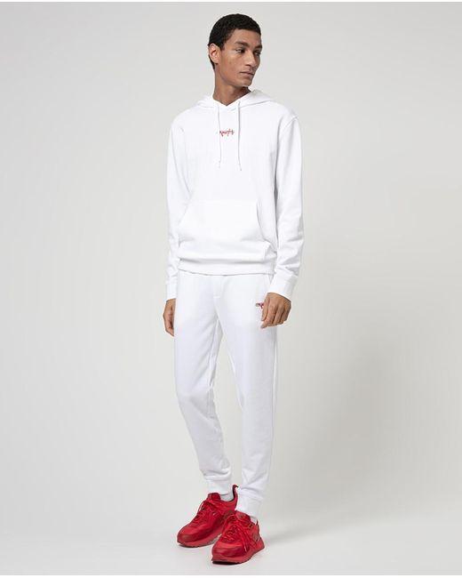 Pantalón De Chándal De Hombre Regular Blanco HUGO de hombre de color White