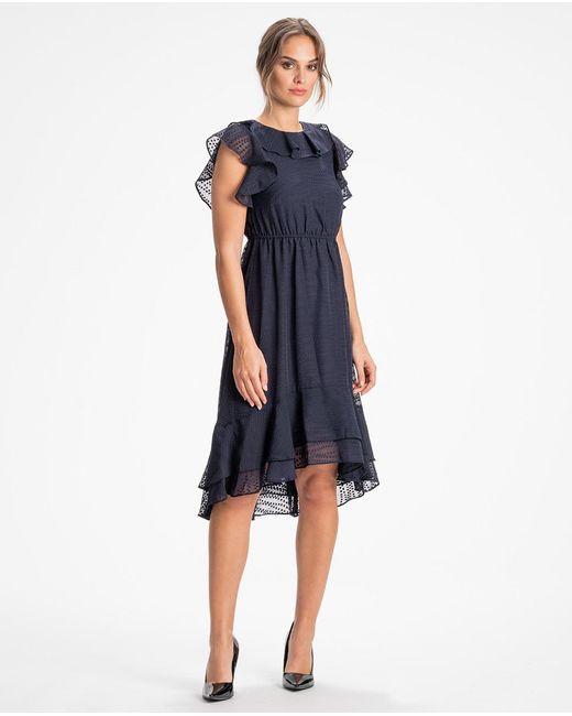 Calvin Klein Vestido Color Liso Con Vuelo de mujer de color azul
