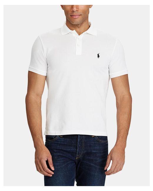 Polo Ralph Lauren - White Ralph Lauren Polo Slim-fit Short Sleeve Polo Shirt for Men - Lyst