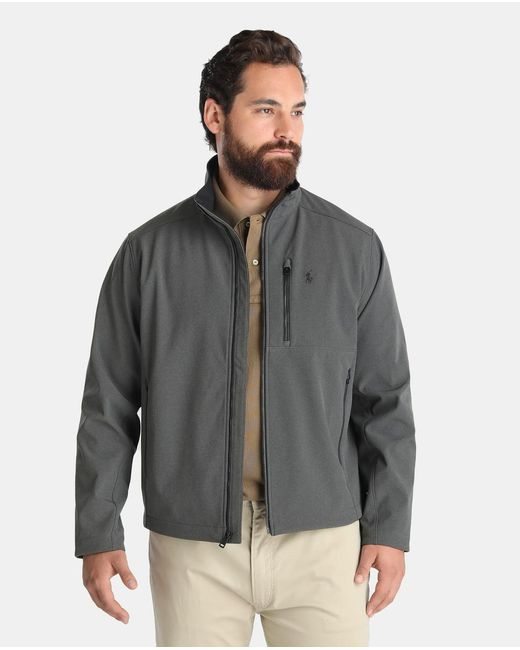 Polo ralph lauren big and tall grey jacket with three for Big and tall polo shirts with pockets