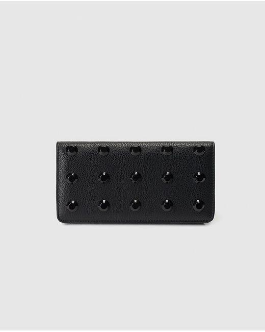El Corte Inglés Black Wallet With Studs And Fastener