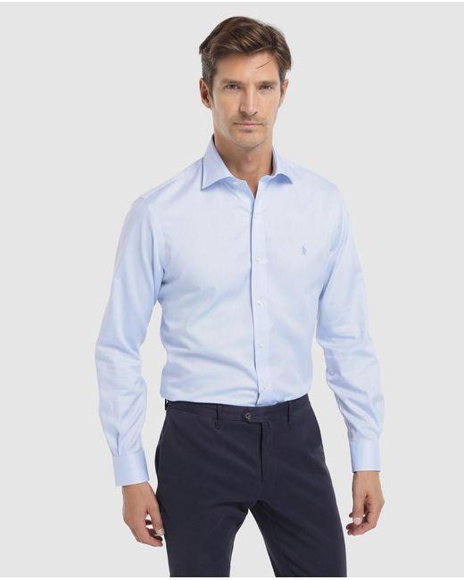 Camisa De Hombre Regular Lisa Azul Polo Ralph Lauren de hombre de color Blue