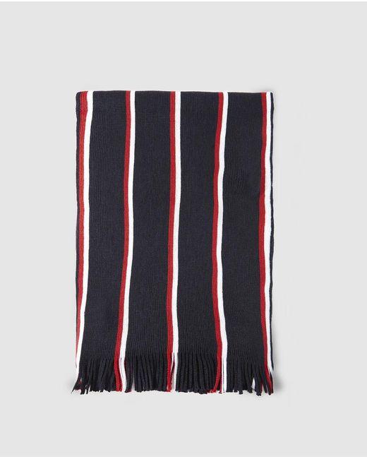 Tommy Hilfiger Mens Blue Striped Scarf for men