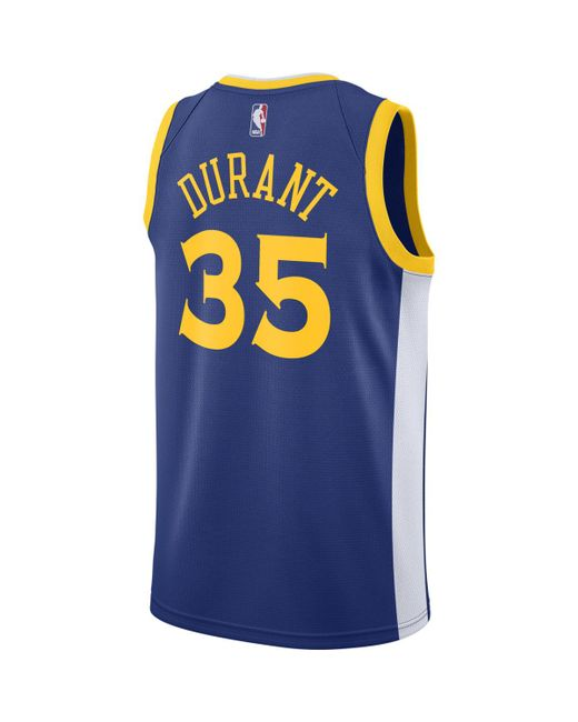 timeless design 38564 a2ed8 Blue Kevin Durant Icon Edition Swingman Jersey (golden State Warriors)  Men's Nba Connected Jersey
