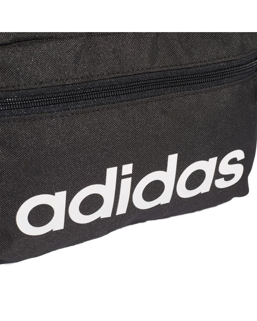 6f1bf92d55b ... Adidas - Black Linear Core Toiletry Bag for Men - Lyst ...