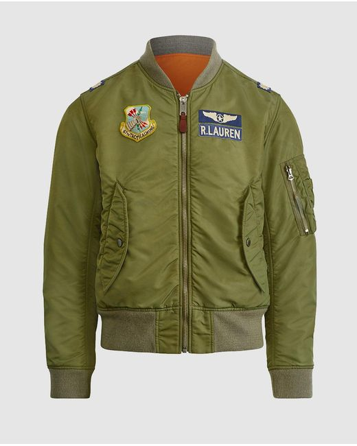 polo ralph lauren the iconic ma 1 bomber jacket in green for men lyst. Black Bedroom Furniture Sets. Home Design Ideas